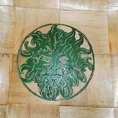 #GREENMAN #Norse #Pagan #Wicca #Viking  #NATURAL #rustic hand painted #handmade #wooden bowl #unique #Home #table #decor #viking #pagan #homedecor #etsy #etsyme (Naturally Engraved Uk) Tags: etsy pagan table handmade etsyme wicca unique rustic natural viking decor greenman wooden homedecor norse home