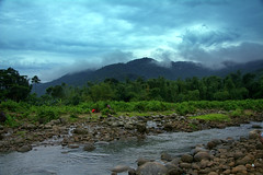 (Sajeeb75) Tags: landscape sky blue green water forest tree travel cloud bangladesh outdoor mountainside hill riverbed river mountain