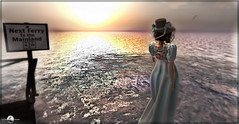 Waiting for the ferry. (яσχααηє♛MISS V♛ FRANCE 2018) Tags: belleepoque dvahairs weloveroleplay fabiola ocean event sea dress formaldress styling mesh avatars secondlife shopping marketplace blog blogger fashionista fashion woman france roxaanefyanucci lesclairsdelunedesecondlife lesclairsdelunederoxaane beauty flickr