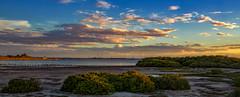 St Kilda Sunset (johnwilliamson4) Tags: blue clouds mangrove panorama seascape sky southaustralia stkilda sunset water orange australia