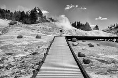 Bumpass Hell (fongpei) Tags: lassen national park lassennationalpark smoke clouds trees sulphur california unitedstates