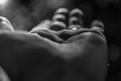 Lend A Hand (marco soraperra) Tags: bw blackandwhite nikon nikkor sun light shadow hand helping monochrome contrast blancetnoir bokeh bubbles lines handlines