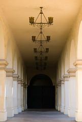 Hallway, Casa del Prado, San Diego (Photoguy3780) Tags: balboa park hallway nikon d200 symmetrical balance iso 200 55 mm f40