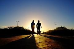 i i (. Jianwei .) Tags: sunset street light richmond vancouver mcarthurglenvancouver men silhouettes