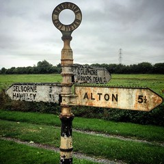 East Tisted, Hampshire (Flamenco Sun) Tags: signpost rural country england vintage sign