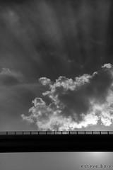 Flight - Suanya (esteveb) Tags: d7000 hdr monochrome manresa barcelona catalunya sky clouds cel nvols pont bright
