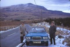On the road to Bala. 29/1/74 (DWB - Slide Project) Tags: kodachrome kodak transparency