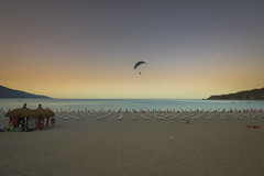 Morning view (Angela Grant photography (Not enough hours in the ) Tags: beach oludeniz turkey morning landscape travel ocean sea paraglider paragliding mountains sky nikon d810 fethiye mugla sunrise