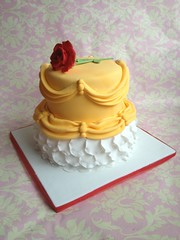 Beauty and the beast birthday cake. (Cotswolds Finest Cakes) Tags: birthday flowers red roses favorite cakes rose cake kids movie tv artist dress princess cotswolds disney best single wiltshire finest cirencester cire cotswoldsfinestcakes
