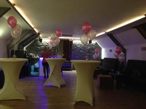 Tafeldecoratie 3ballonnen Grand Cafe V34 Spijkenisse