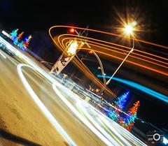 Light Trails @ Olympic Plaza (*HYP) Tags: christmas longexposure lights utah unitedstates parkcity lighttrail