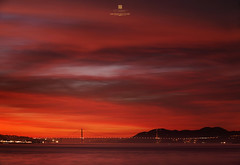 winter sky magic (louie imaging) Tags: sf life camera city bridge winter sunset sun modern youth golden evening bay gate san francisco mood moody cityscape heart jan dusk contemporary young photographers jazz grand daily romance story burn journey harmony romantic forever rays monday wonderland without grind jazzy fiery interpret fathom limits ambiance possibilties boundries 2013 interpreted