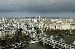 Charing Cross from the London Eye - London (Craig Pitchers) Tags: leica city bridge london unitedkingdon charingcrossstation vlux3 leicavlux leicavlux3