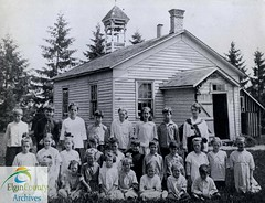 Yarmouth Township S.S. # 2 (White), c 1920. Constructed 1843; closed 1929.