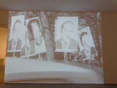 "whimsical or absurdist film: Bob Hope and Mao Tse Tung ""protesters"""" (sftrajan) Tags: madrid espaa film museum spain whimsy espanha espagne spanien 2012 bobhope absurdism espanya maotsetung museoreinasofa museonacionalcentrodeartereinasofa modertart queensofiamuseum"