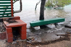 Barbecue, Sadie's Beach, Thursday Island, Torres Strait (Witness King Tides) Tags: barbecue torresstrait thursdayisland kingtide witnesskingtides sadiesbeach