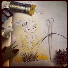 WIP: Golden Goose Girl Armature (I Do Cake Toppers) Tags: sculpture girl bigeyes doll polymerclay fimo sculpey pinup pinupgirl goldengoose supersculpey christinapatterson wwwidocaketopperscom idocaketoppers