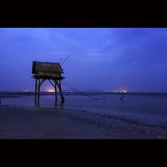 Twilight [ EXPLORED ] (-clicking-) Tags: lighting longexposure blue light sea beach landscape dawn twilight onthebeach atmosphere bluesky vietnam deepblue beforesunrise beforedawn abigfave vietnameselandscape coth5 blinkagain bestofblinkwinners blinksuperstars bestofsuperstars blink4gallery