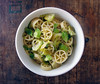 Pasta with Lemony Brussels Sprouts (you can count on me) Tags: lemon pasta garlic easy quick parmesan brusselssprouts chiliflakes poppytalk