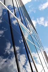 cloud nine (Fotoristin - blick.kontakt) Tags: blue cloud abstract building clouds reflections geometry nine wolken diagonal architektur blau gebude lins geometrie linien blickkontakt mygearandme mygearandmepremium aechitectue