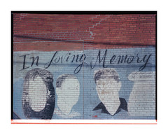 In Loving Memory, New York City, 2013 (Erich DeLeeuw) Tags: nyc newyorkcity 120 film america mediumformat photography mural unitedstates memory faceless inlovingmemory portra160 bronicaetrs erichdeleeuw