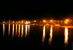 Alykes at night (Geo.M) Tags: city sea beach night landscape greek lights george seaside walk greece scape poli bolos giorgos nomos ellas ellada  fota volos thessaly  alykes  elliniko   thessalia   magnesia     pagases        miliokas