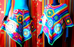 Crochet Poncho / Skirt - Rainbow Granny Stripes With Go Crochet Motifs And Doilies (babukatorium) Tags: applique art babukatorium babypink blue bohemian burgundy button circle color colorful coprispalle crochet crochê darkblue doily embellished emeraldgreen fashion flower fuxia ganchillo grannysquares green haken handmade hexagon hippie horgolt häkeln iceblue moda multicolor octagon oneofakind orange patchwork peach pink poncho psychedelic purple rainbow recycled red retro rose royalblue skirt square star striped style teal tığişi turquoise uncinetto upcycled uvgreen violet warm whimsical wool yellow かぎ針編み