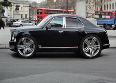 Bentley Mulsanne SUV (kenjonbro) Tags: uk black london trafalgarsquare suv bentley 2011 kenjonbro fujihs10 lj11nnm