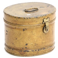 33. 19th Century Faux Grain Painted Lock Box
