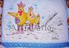 pano de prato família galinha (Ana Carla_Fazendo Arte) Tags: flores frutas galinha cupcake patchwork cozinha
