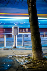 Roosevelt Island (Dan Squires) Tags: nyc longexposure bus night rooseveltisland npy fujixpro1