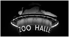 UFzOo (Delectrave) Tags: advertisement hauptbahnhof werbung hallesaale schwarzweis bergzoo nikond7000