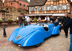 peug402.jpg (stevestead) Tags: blue france art car architecture french design classiccar events places alsace collectors striking deco rare peugeot collectable peugot motoring eguisheim nikond200 coachbuilt holiday2010 peugot402specialsport rearwheelspats