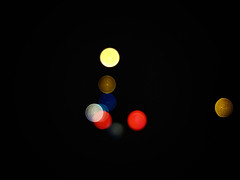 Nasty Dots 1 (donlunzo16) Tags: city light color bulb night germany dark town aperture stream stuttgart blurred artificial beam dreams dots unfocused nonsense x10