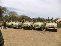 SPLM-N photo showing vehicles they claim to have seized from the Sudanese army in Mafo in Blue Nile state. Feb 2013 (Sudan Tribune) Tags: military sudan saf bluenile mafo mufu splmn