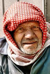 Old man in Damascus (mariannaF) Tags: man male senior face beard person photo middleeast streetportrait oldman syria damascus sham levant
