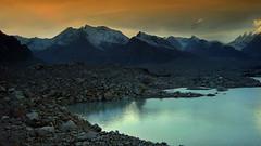 Lake Vasundhara !!! (Lopamudra !) Tags: india mountain lake mountains color colour water trek landscape evening twilight dusk abi loch himalaya kamet gamin highaltitude basecamp garhwal highaltitudelake lopamudra vasundhara basundhara