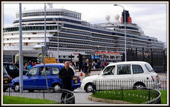 Taxis (* RICHARD M) Tags: street england liverpool sailing ships newquay cruising taxis maritime nautical shipping ports cunard cruisers pierhead queenelizabeth cruiseships merseyside capitalofculture rivermersey blackcabs europeancapitalofculture cruiseliners hackneycarriage passengerships passengerliners