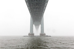 Under the Verrazano (kriegs) Tags: nyc winter snow brooklyn explore 1020mm verrazanobridge bayridge youtube flickrexplore