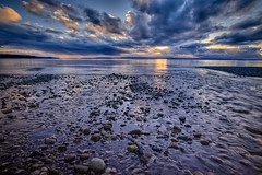 Hidden Treasure, Picnic Point County Park, Washington (Michael Riffle) Tags: ocean sunset sky seascape beach nature water clouds canon landscape photography washington stream day northwest cloudy pacificnorthwest pugetsound lynnwood everett mukilteo picnicpoint salishsea
