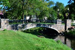 Stone Bridge at Central Park in Edgerton, WI ~ {Explored} (photomama777) Tags: park bridge summer usa wisconsin nikon centralpark august edgerton stonebridge 2013 rockcounty nikon1855mm abigfave cmwdgreen nikond3100