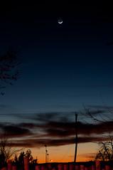 Sunset (Frank Carey) Tags: sunset moon newmexico santafe nikon crescent waxing d90 panstarrs