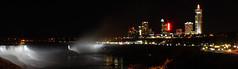 Niagara Falls and tourist district (sloansquared) Tags: lighting ontario canada skyline night river niagarafalls waterfall niagara americanfalls niagarariver