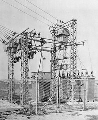 Virginia City sub (en tee gee) Tags: california old transformers switches insulators 4kv 11kv