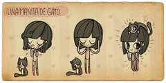 Manita de gato (Anita Mejia) Tags: pink cute girl illustration pen ink cat reading sketch cartoon kitty books seuss read doodle kawaii vacaciones comicdiary chocolatita anitamejia