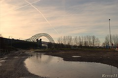 Jubilee Bridge (kev thomas21) Tags: bridge trees england sky tree cheshire jubilee bluesky runcorn widnes mygearandme blinkagain