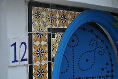 DSC_5083 (TareqD) Tags: doors town old sidi bou said tunis tunisia blue door doorway pattern tiles white numbers arch house home