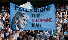 Pellegrini support (MekyCM) Tags: soccer premier league football premierleague england wales britain unitedkingdom arsenal chelsea liverpool mancity united futbol futebol barclays leicester pitch supporters celebration southampton palace westham everton spurs newcastle stoke swansea sunderland watford westbrom bournemouth norwich villa