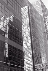 Reflected Towers_ (Bill Smith1) Tags: asahipentaxkx believeinfilm billsmithsphotography hc110b ilforddelta100 july2016 smcpentaxm50f14lens toronto filmshooterscollective