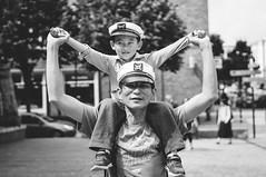 Flying or Sailing? (Georgi C) Tags: street streetphotography people emotion black white blackandwhite nokton voigtlandernoktonclassicf14 germany rostock nex5r sony bokeh dof